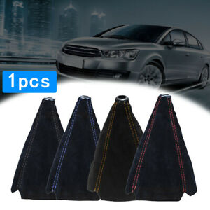 Black Car Manual Gear Stick Shift Knob Cover Boot Gaiter Cover Universal
