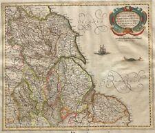1660  Mercator/Hondius/Jansonnius Map - North-East England - Yorkshire, Lincoln