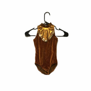Creations By Cicci Girls Brown Gold Glittering Tutu Costume 6x7