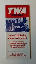 Vintage TWA Timetable Brochure Trans World Airlines 1982