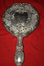 Vintage Mirror over 100 years old ? very heavy silver color ? velvia ann rare