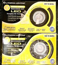 "2 PACK Lithonia Lighting 3"" Oil Bronze Recessed Lighting Gimbals LED Kit"