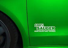 1x 100% Sauger Aufkleber Folie V6 V8 Sticker Shocker  Auto Tuning Motor 189