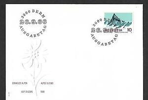 SWITZERLAND 1966 FIRST DAY COVER # 479, FINSTERAARHORN !!