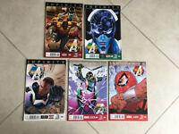 MARVEL COMICS INFINITY 1 2 3 INHUMANITY  4 &  5 THE MIGHTY AVENGERS (5 COMICS)