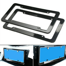 2PCS Carbon Fiber Look Painted Style Black License Plate Frame For Honda Jeep