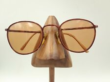 Vintage Lamy Woodstock F305 Brown Tortoise Square Round Sunglasses FRAMES ONLY