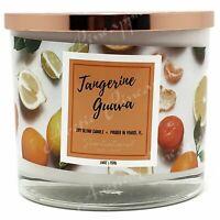 Scentsational Natural Soy Blend 26oz Cotton 3 Wick Candle Jar - Tangerine Guava