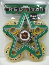4-Pack Red Star Triton Indoor Inline Roller Blade Hockey Wheels 76mm 76A Soft