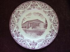 "1952 Wedgwood 10"" Plate Fairleigh Dickinson  College, The Gym in Rutherford, NJ"