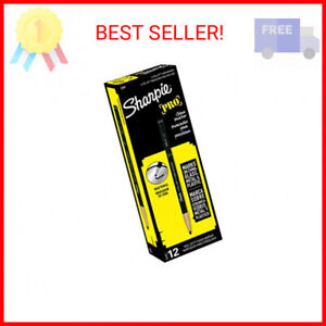 Sharpie PEEL-OFF Marker China, China Marker Bullet, 12 Pack, Black (2089)