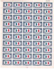 United States Scott # 915 France Overrun Countries Issue Uncut Stamp Sheet MNH