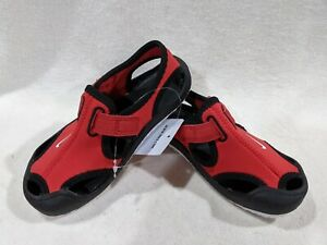 Nike Sunray Protect (TD) Red/White/Black Toddler Boy's Sandals - Size 7/8/9C NWB