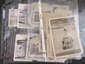 (17) 1950's Detroit Tigers Baseball Snapshot Photographs
