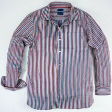 Tommy Bahama T314764 Mens Sea Mist Striped Red White Blue Shirt Coastline L