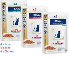 Royal Canin Veterinary Feline Renal Mix of 4x Tuna 4x Chicken 4x Beef Cat Food