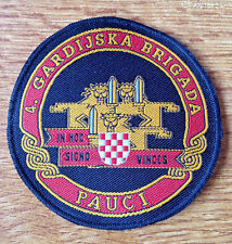 CROATIA ARMY   HV    4 GUARD BRIGADE SPIDERS   war time sleeve patch  Type 2