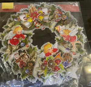 Vintage Paper Christmas Wreath - Christmas Decoration