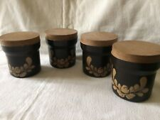 Four Denby Bakewell Storage Jars With Lids