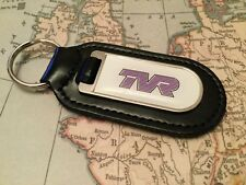 TVR PRINTED Quality Black Real Leather Keyring CHIMAERA GRIFFITH CERBRA S 1 2 3