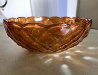 Bernstein Farbe Gelb irisierend Art Déco 2x Schale Pressglas Antik Glasschale