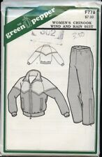 Green Pepper F778 Sewing Pattern Women's Chinook Wind and Rain Suit Size 6-18 UC