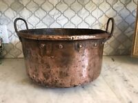 Vintage FRENCH COPPER STOCKPOT,c.1900-1920s,VERY RUSTIC,GREAT PATINA