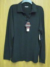 New Heatkeep Heat Plus Men's Size M Long Sleeve Button /Collar Black $40