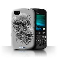 STUFF4 Phone Case for Blackberry Smartphone/Skull Art Sketch/Protective Cover