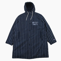 New Mens Champion Beams Tokyo Oversized Stripe Hooded Padded Stadium Jacket M XL