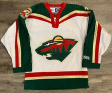 Minnesota Wild NHL Hockey CCM Authentic Blank Jersey Youth Size Small Medium