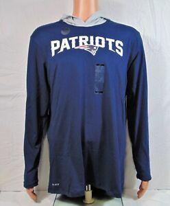 Nike New England Patriots Dri Fit Helmet Hoodie Shirt Sz L NEW BQ5111 419 RARE