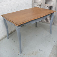 6 Seater Antique French Country painted Rustic Oak Farmhouse Dining Table desk
