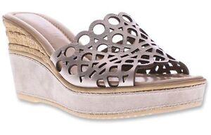 NIB Spring Step Azura Women's Polidor Casual Wedge Sandals Gold