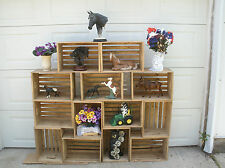 "18"" wooden crate, wood display crate, display case, crate, wood storage crate"