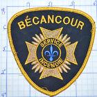 CANADA, BECANCOUR FIRE DEPT SERVICE INCENDIE QUEBEC GOLD EDGE PATCH