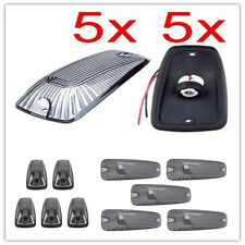5X Smoked Lens Plastic Cab Roof Lamps Cover Car Top Light Shells & Lampholders
