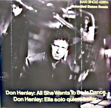 DON HENLEY all she wants to do is dance/ella solo quire bailar MAXI PROMO 1985++