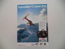 advertising Pubblicità 1987 CANON EOS 650