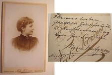 Forbach i. Lothringen - Saarbrücken - 1895 Irma Pietzner ? als junge Frau / CDV