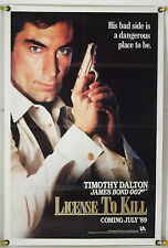 LICENCE TO KILL FF ADV ORIG 1SH MOVIE POSTER TIMOTHY DALTON JAMES BOND 007(1989)