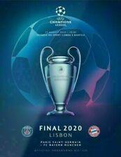 Programm Heft Champions League Finale Lissabon 2020 Paris PSG vs Bayern München