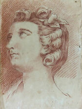 Ecole de Carle Van Loo femme 1705-1765 Dessin ancien XVIIIe  .