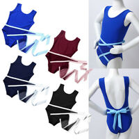 Kids Girls Gymnastics Ballet Dance Leotard Yoga Sports Jumpsuit Bodysuit Unitard