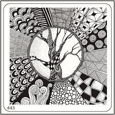 Imagen De Arte Estampado Cuadrado Moyou placa 443 Hada Estilo, árbol completo diseño manicura