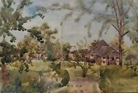 WATERCOLOR - AFRIKA - AROUND 1923 - UNKNOWN ARTIST - MISSION IM BUSCH