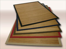 Bamboo Rug 17 mm Parquet Natural 200x300 cm Border in Beige