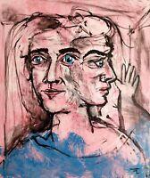 Tableau original peinture acrylique sur toile - signé - Artiste  FLAVIEN COUCHE
