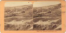 Nazareth Israël Galilée Terre Sainte Religion Stereo J. Andrieu Albumine c1870