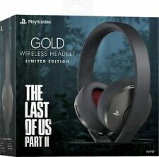 Sony PlayStation Gold Wireless Headset 7.1 Surround Sound Last Of Us II Edition